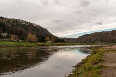 River Elbe, Saxon Switzerland Stock Images