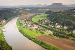 River Elbe in Saxon Switzerland Stock Image