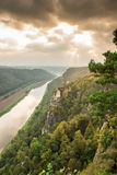 River Elbe in Saxon Switzerland Royalty Free Stock Photos