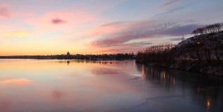 River embankmenk royalty free stock photo