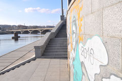 The river embankment in the city Stock Image