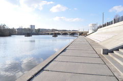 The river embankment in the city Stock Images