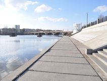 The river embankment in the city Stock Photos