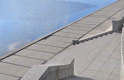 The river embankment in the city Royalty Free Stock Photos