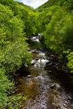 River in English countryside. The River Lyn in Devon near Lynmouth Royalty Free Stock Photos