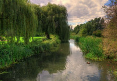 River through English countryside. Royalty Free Stock Photos