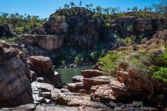 Rocky escarpment at Katherine Gorge, Australia Royalty Free Stock Photos
