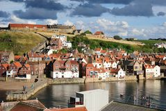 River Esk in Whitby, England Stock Image