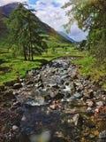 River Etive near Glencoe. River Etive in Glen Etive, Scottish Highlands Royalty Free Stock Photography