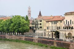 The river Etsch in Verona Royalty Free Stock Photo