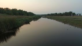 River at evening. stock video footage