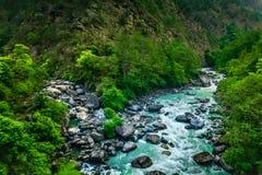 River from everest trek. In nepal Stock Photo