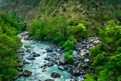 River from everest trek. In nepal Royalty Free Stock Image