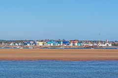 River Exe. Near Exmouth, civil parish and seaside resort in East Devon Stock Images