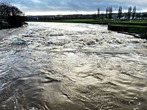 River Exe in stormy weather Royalty Free Stock Image