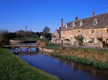 River Eye, Lower Slaughter, England. Stock Photography
