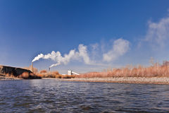 River and factory Royalty Free Stock Images