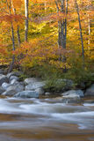 River and fall foliage Stock Photo