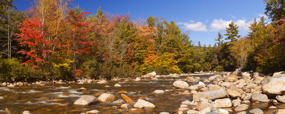 River through fall foliage, Swift River, New Hampshire, USA Stock Photos
