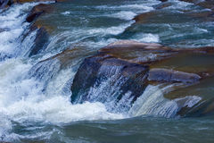 River fall on stones of mountain Royalty Free Stock Photos