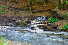 River falling cascade down Stock Photo