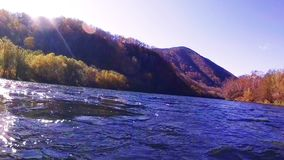 River Fast bank. The bank of the River Fast in Kamchatka in fall stock video footage