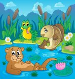 River fauna theme image 2. Vector illustration Royalty Free Stock Photo