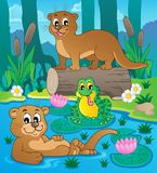River fauna theme image 3. Vector illustration Stock Photo