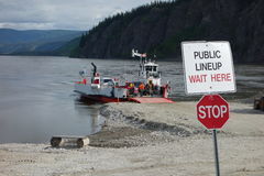 A river ferry at dawson city Royalty Free Stock Photos