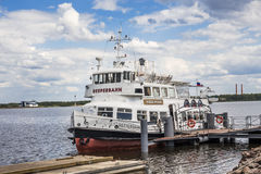 River ferryl Reeperbahn at Fort Constantine, Kronshtadt, Russia Royalty Free Stock Photo