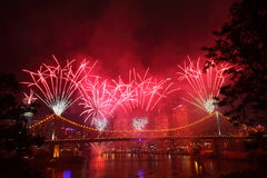 River fire Festival in Brisbane Royalty Free Stock Images