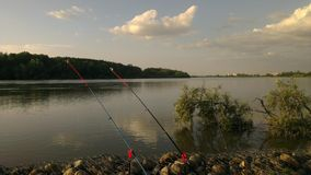 River fishing Stock Image