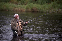 River fishing Royalty Free Stock Photo