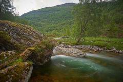 River floating through the mountain landscape Royalty Free Stock Image