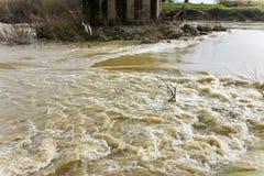 River in flood Stock Photos