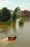 River Flooding. Rivers converged causing extensive damaging flood Stock Images