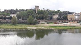 River in Florence city. View of the river in quite day Royalty Free Stock Photography