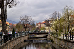 The river of Florina, Greece Stock Photography