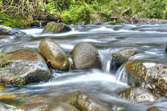 River flow / ecology scene HDR Royalty Free Stock Image