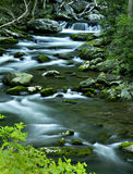 River flow in TN, Smoky Mountains. Picture of river flow with rocky boulders in Smoky Mountains National Park Stock Photo