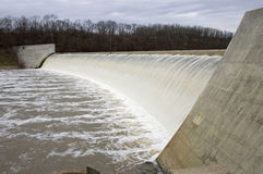 River Flower Over Dam. Dam on the Olentangy River in Columbus Ohio Stock Photography