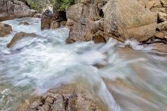 River flower between rocks making white water Stock Photo