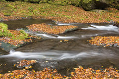 River flowing on bedrock Royalty Free Stock Photo
