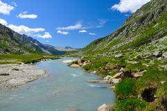 River flowing in glacial valley Stock Photography