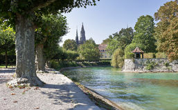 River flowing into Lake Constance in Germany Royalty Free Stock Photography