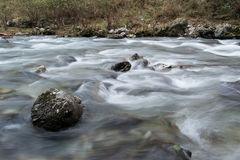 River flowing motion Stock Photo