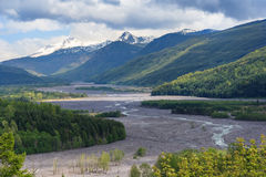 River flowing from Mount St. Helens in Washington USA Royalty Free Stock Photography