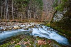 River flowing through mountain Royalty Free Stock Photos