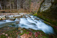 River flowing through mountain Royalty Free Stock Photography