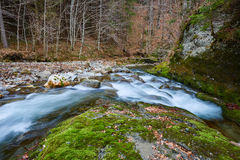 River flowing through mountain Royalty Free Stock Images